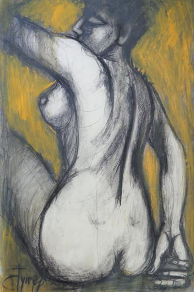 Nude Turning The Back by Carmen Tyrrell