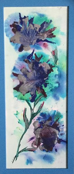Fantasy Flowers in Blue by Brenda A'guinn