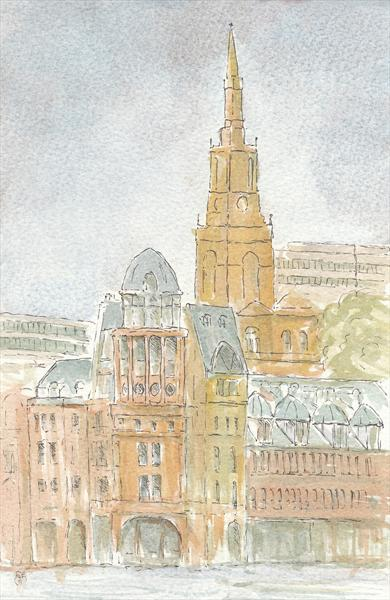 Customs House and All Saints, Newcastle Quayside by Gavin Engelbrecht