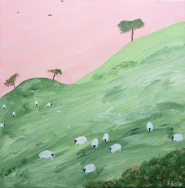 Summer Sheep by Stephen Casey