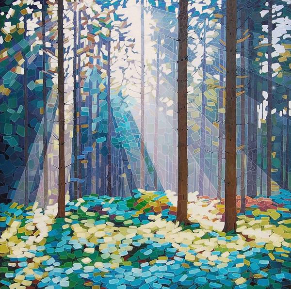 """Shine"" (Forest Dawn 16) On show at The Art Gallery Tetbury"