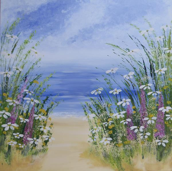 Blooming Beach by Elaine Allender
