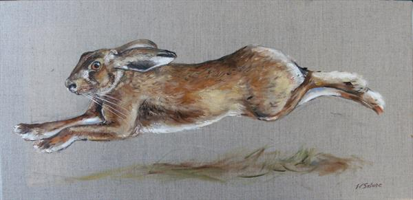 Running Hare, stretched out by Wendy Sabine