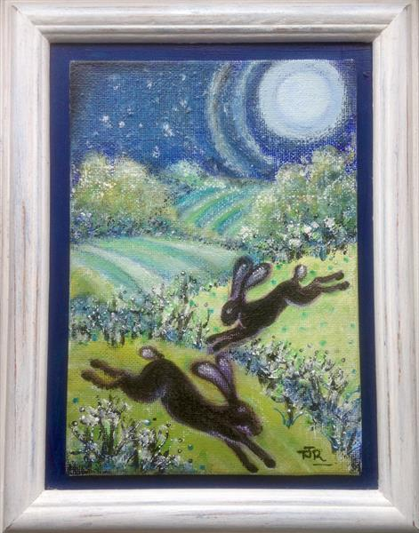 Mystical March Hares by Theresa  Robinson
