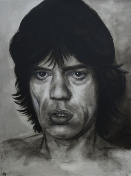Paint it black - Mick Jagger (SOLD) by Ian Wilgaus