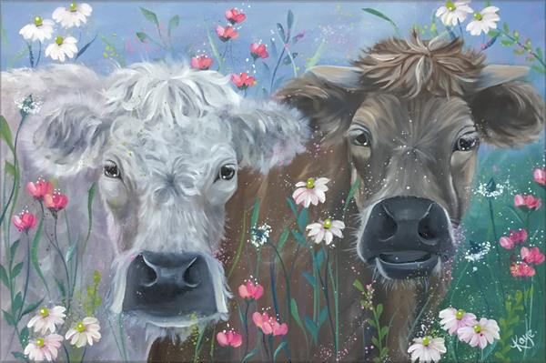 Cows in the Meadow by Kaye Lake