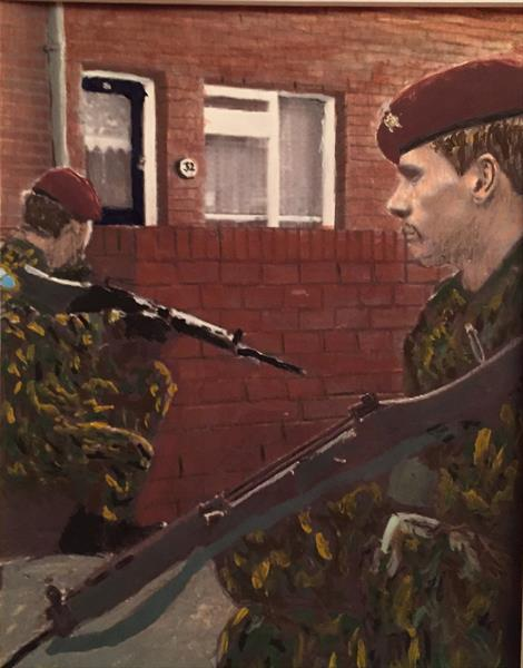 Routine patrol on street of Belfast by MARK LEARY