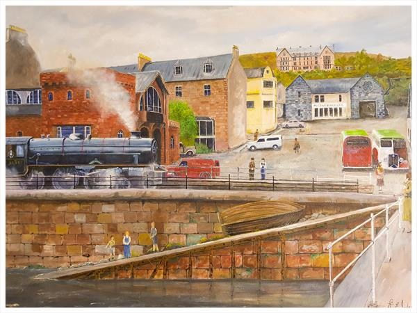 Fort William Station 1950 by jeff ward