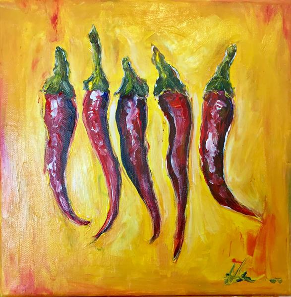 Hot Red Chilli Peppers by Kerhys Farley