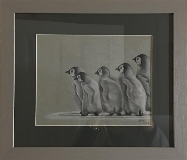 Baby Emperor Penguins  by Jennie James