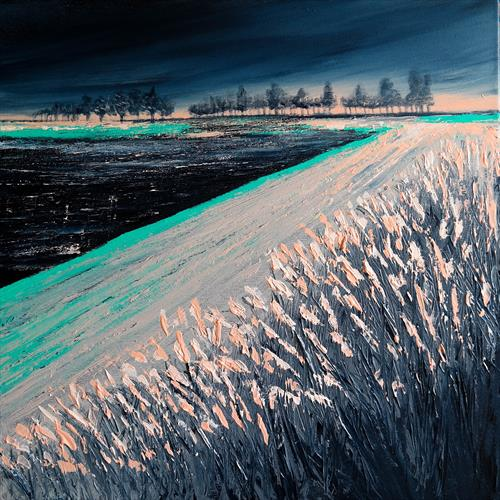 First Frost and the Sunrise- Fields and Colors Series  by Danijela  Dan