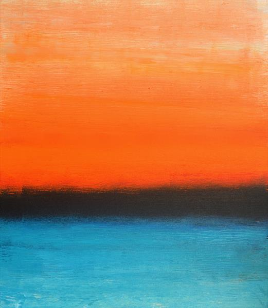 Orange and Turquoise by Milena Blaziak Cooke