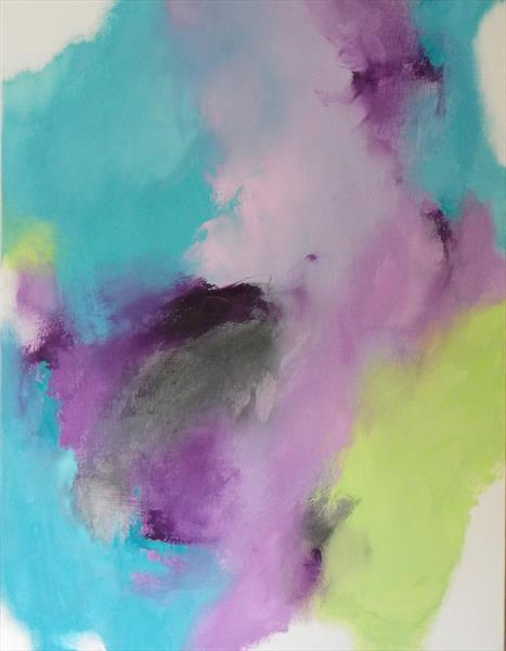 Summer Series Softly- Softly Lime, Lilac and Turquoise by Wendy Hyde