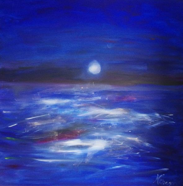 midnight sea by Beata Harasim