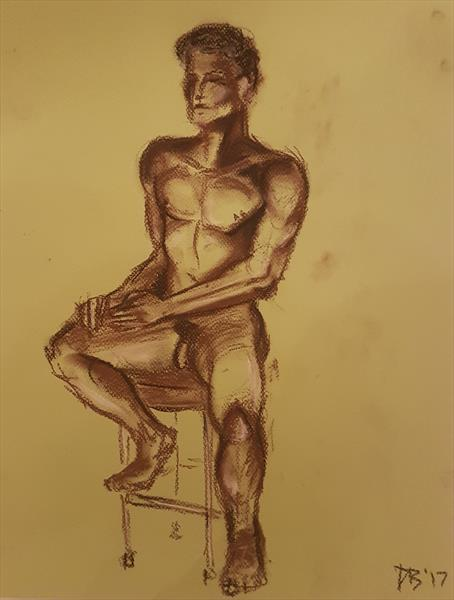 Seated Study No.2 by David Brown