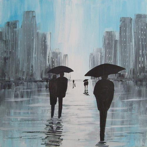 Rain In The City 4# by Patricia Richards