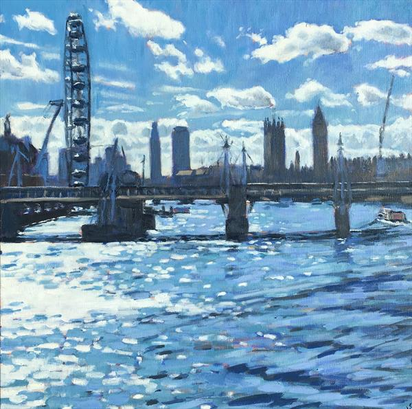 The Thames from Waterloo Bridge by Louise Gillard