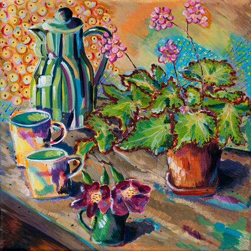 DENBY WARE STILL LIFE by Diana Aungier - Rose