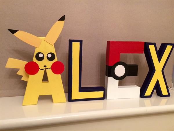Pokemon Children's letters by Tracy Jolly