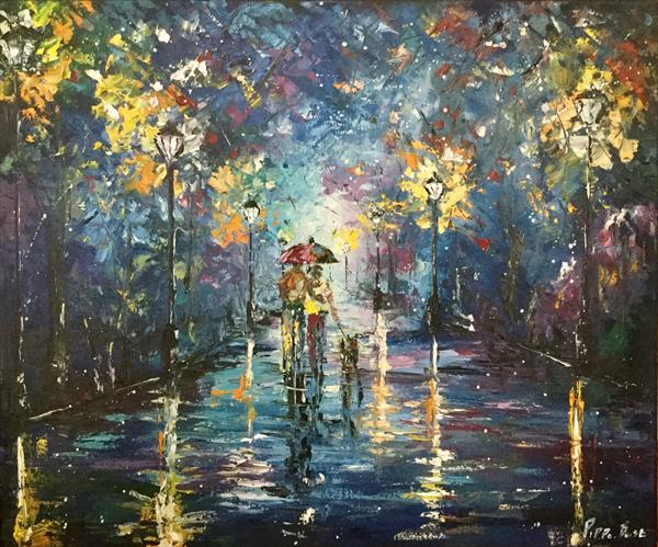 Night time stroll in the park by Pippa Buist