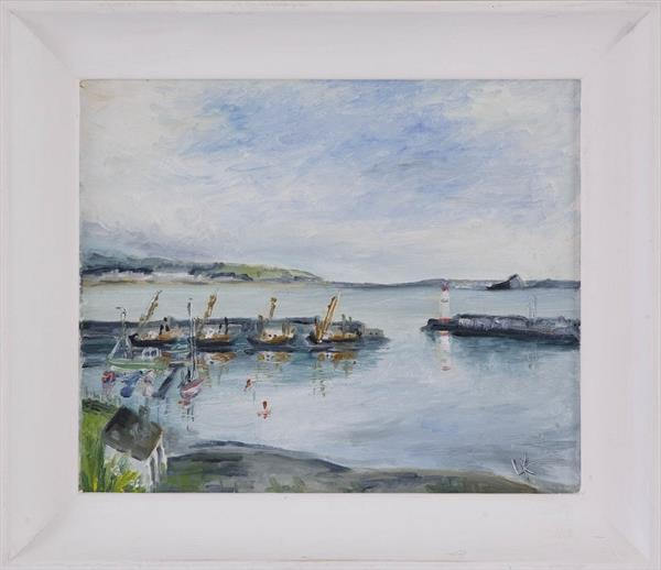 Fishing boats at Newlyn harbour by Lynn Keddie