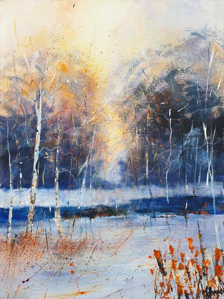 Winter Birches View by Teresa Tanner