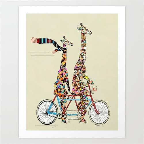 Giraffes days lets tandem  by Bri Buckley