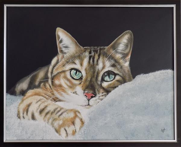 Relax: Cat painting by Victoria Coleman