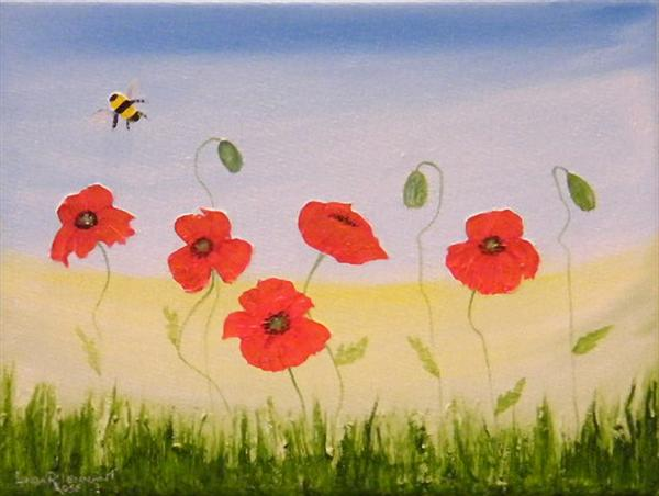 Wild Poppies by Roselind A'rt