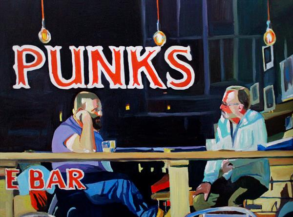 Punks on The Kingsway by Emma Cownie