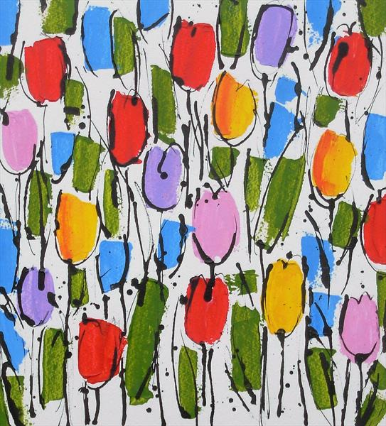 Field of Tulips 3 by Jan Rippingham