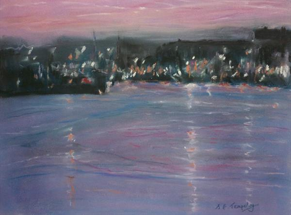 Harbour Lights - Sunset by Susan Temperley