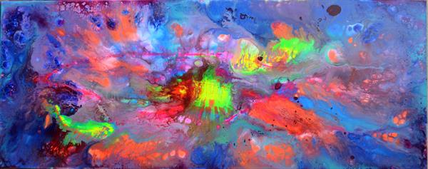 Happy Harmony IV - 150x60 cm - Big Painting XXXL - Large Abstract, Supersized Painting by Soos Tiberiu - Anton