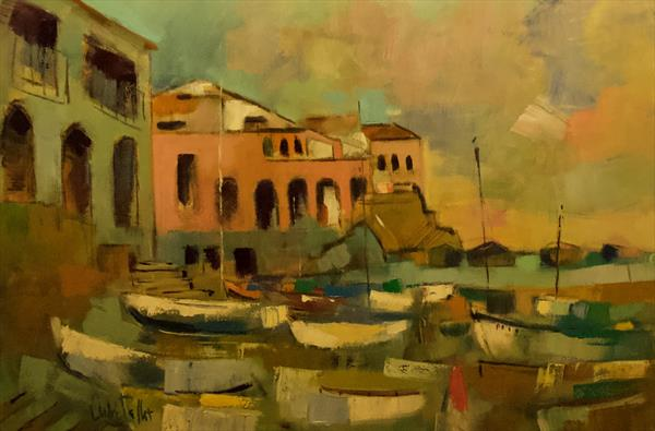 Boats in Calella by Andre Pallat