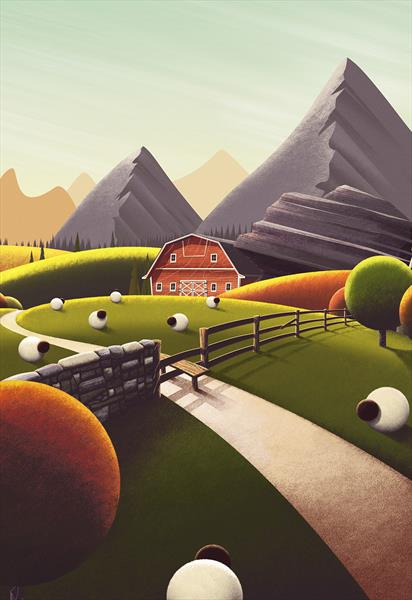 Flock Style - Signed and Framed Limited Edition by Rob Palmer