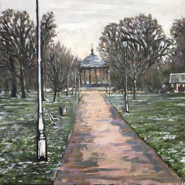 Clapham Common winter by Louise Gillard