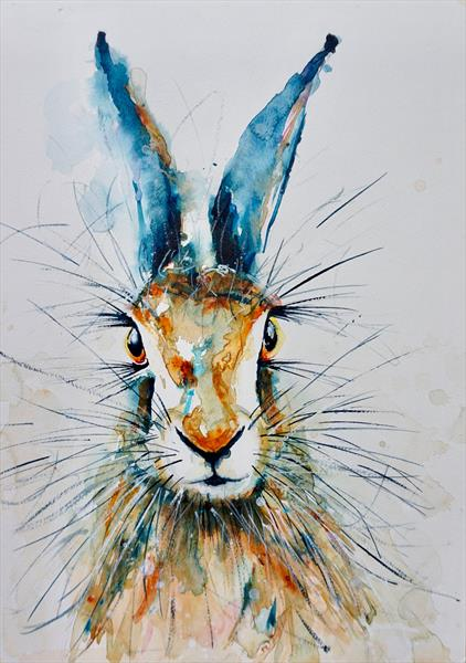 Hare in Blue by Anna Pawlyszyn