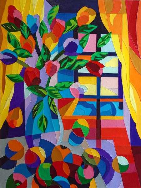 SUNSET: STILL LIFE WITH SPILLED FRUIT by Stephen Conroy