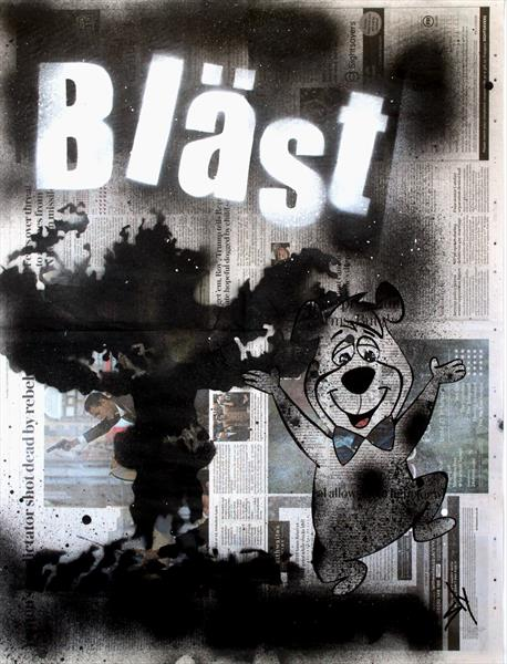 OTHER PEOPLE'S PAINTINGS ONLY MUCH CHEAPER: NO. 11 BÄST (ON THE DAILY TELEGRAPH) by Juan Sly