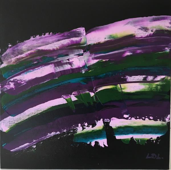 Purple Green Strata 1212 by Lorna Lancaster