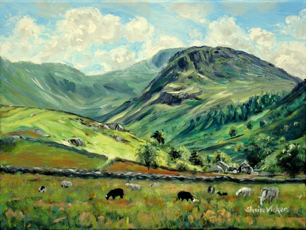 Scafell Pike And Seathwaite Sheep