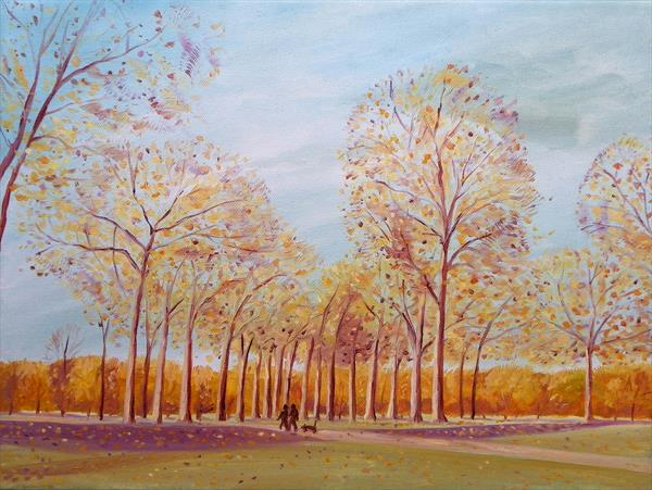 Golden trees by Mary Stubberfield