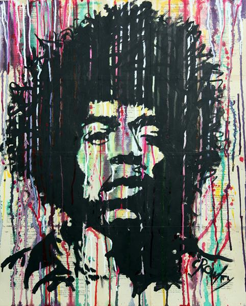 Jimi Hendrix by darren crowley