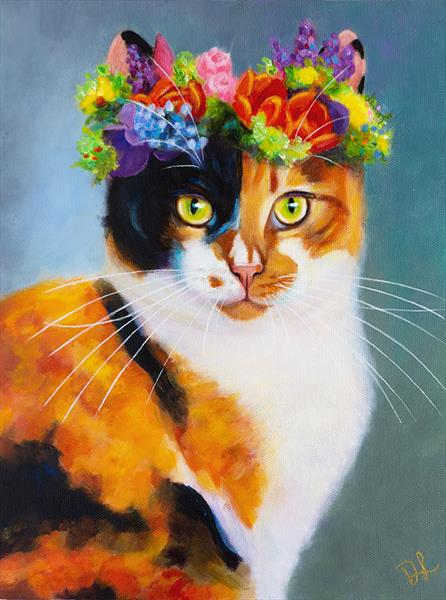 Flower Cat by Denise Laurent