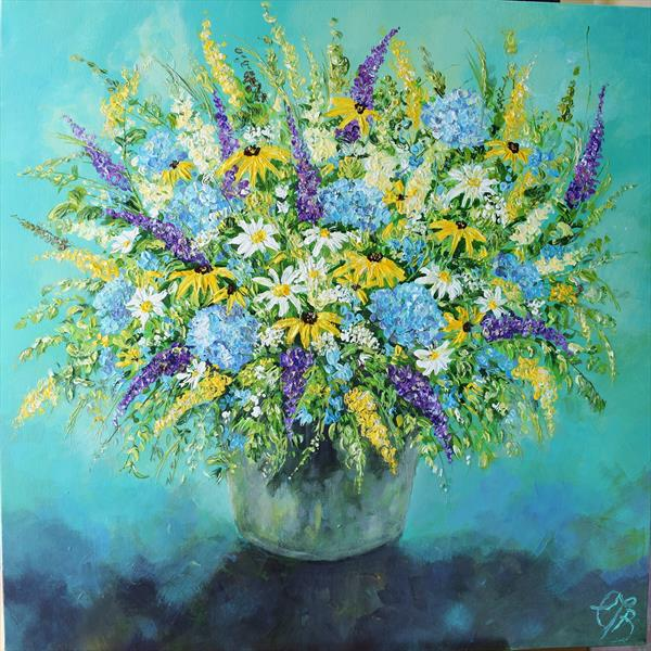 Flowers from the Farm no2 by Colette Baumback