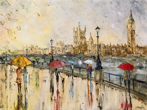Sights of London in the rain by Pippa Buist