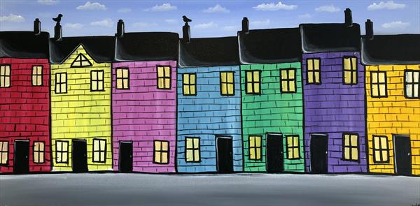 Colourful Houses 2 by Aisha Haider
