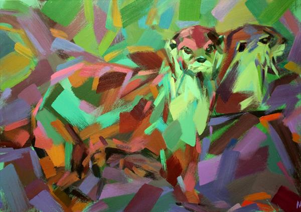 Otters by Marie Antoniou