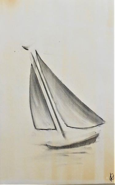 Charcoal Boat  by Adam Money