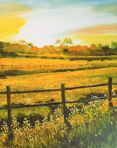 Rural sunset by Rod Bere